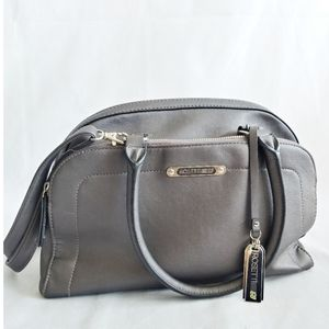 Rosetti Faux Leather Pewter Handbag